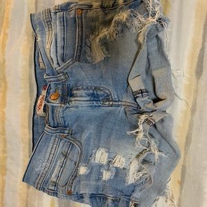 Pants - Distressed Jean Shorts Sz S